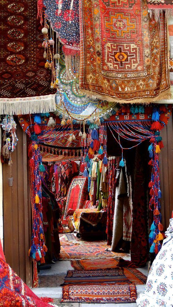 A carpet shop Capadocia,Turkey.