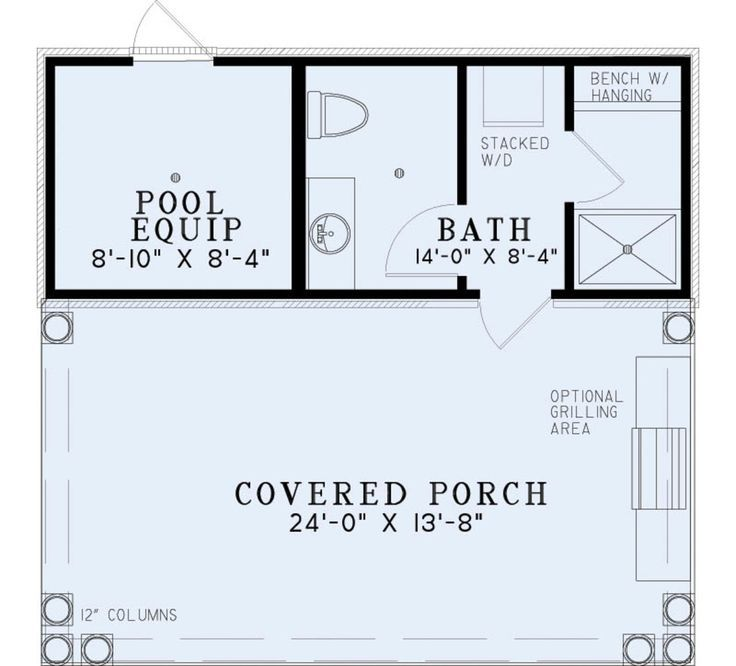 Image result for 14x20 floor plan pool cabana