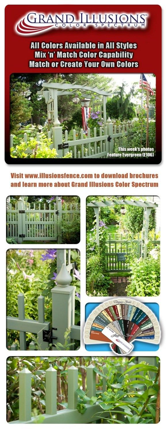 V703-4 Alternating Classic Victorian Picket Fence with V703S (Scalloped lower pickets) Styled Uni-Weld Walk Gate, Evergreen (E106)