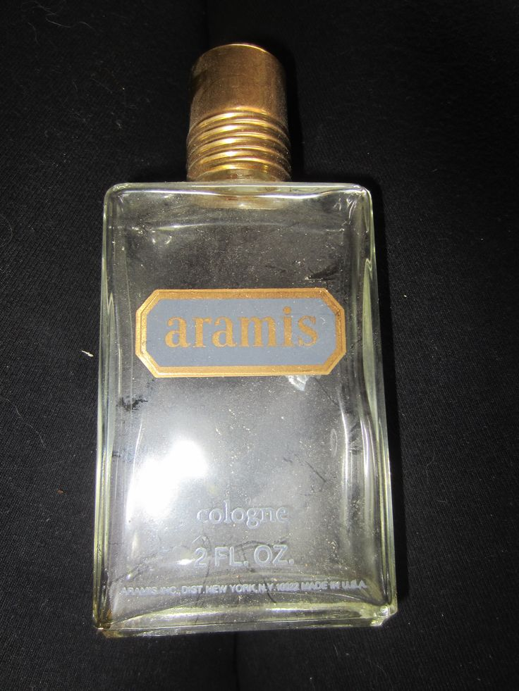 aramis cologne 2 oz splash used vintage men 39 s empty glass bottle kitschy beauty products. Black Bedroom Furniture Sets. Home Design Ideas