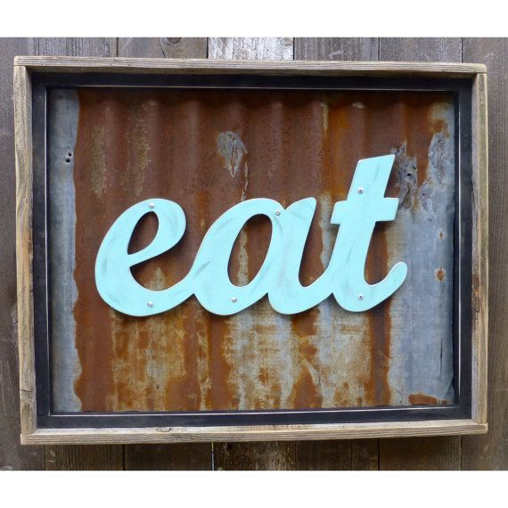 Amazing EAT Sign, Rustic Eat Sign, Kitchen/diner Art, Birthday Gift, Party