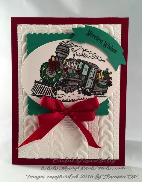 Locomotive In Christmas Magic Stamp Set By Stampin UP 2016