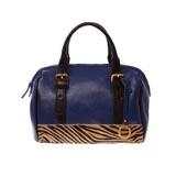 Pony Fur Panel Leather Handbag