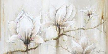 schilderij magnolia 70x140