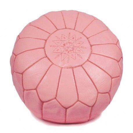 moroccan pouf pink