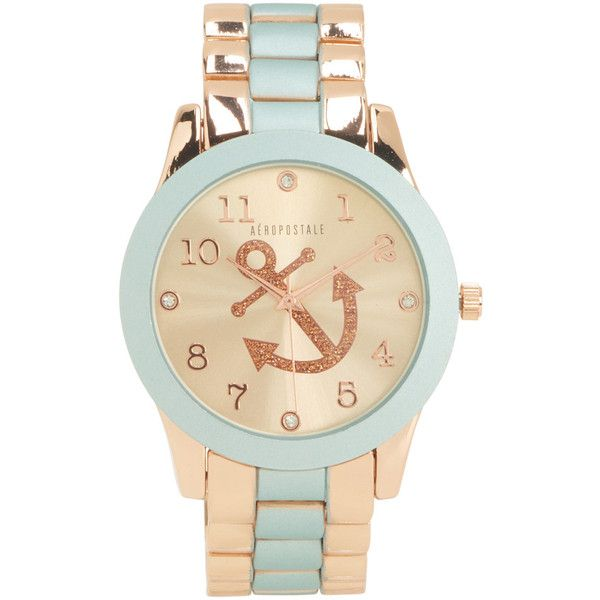 Aeropostale Metal Anchor Boyfriend Watch