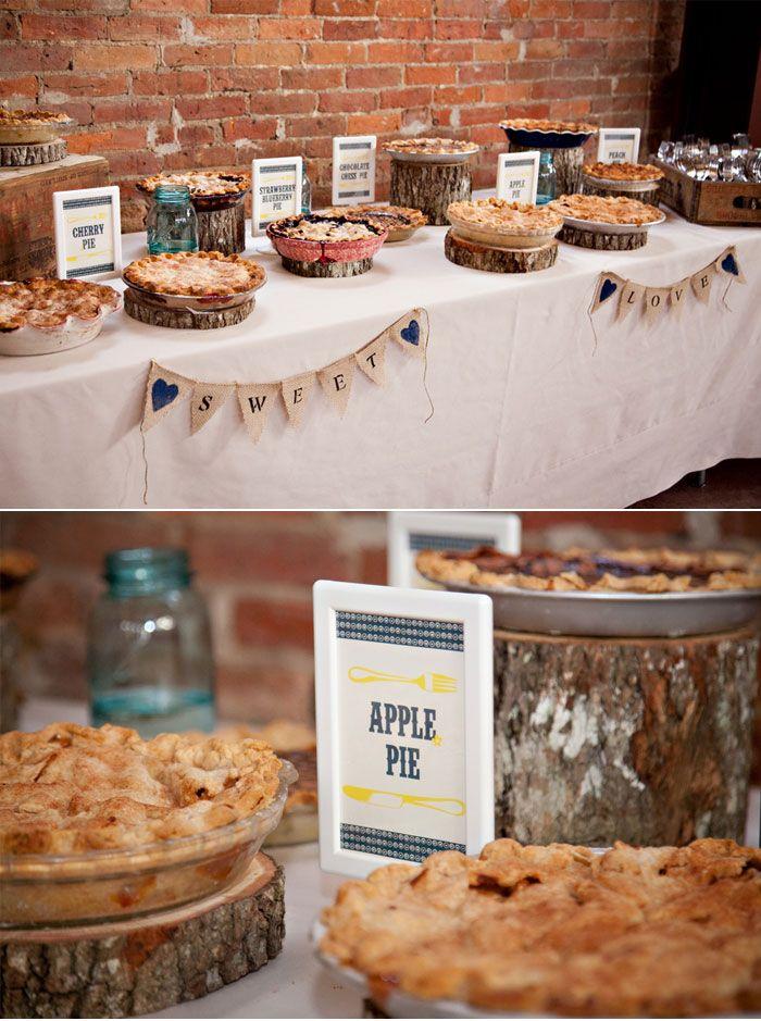 25+ best ideas about Wedding pie table on Pinterest | Pie bar ...