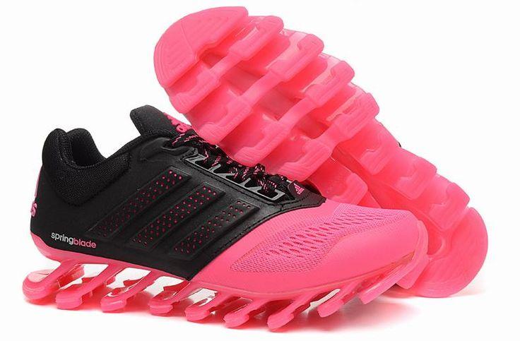 On Feet Ladies Adidas Springblade Drive 2.0 Pink Black Trainers
