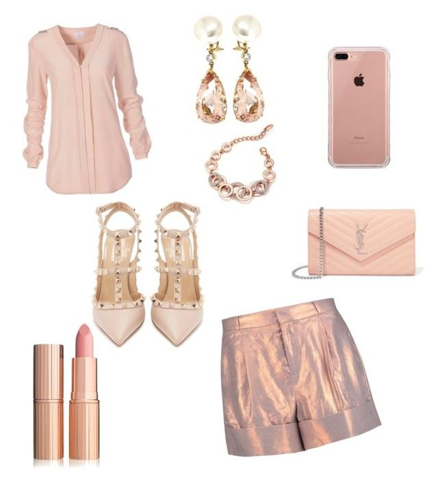 """""""💕"""" by iuliacalin on Polyvore featuring Raoul, Valentino, Belkin, Yves Saint Laurent and Valentin Magro"""