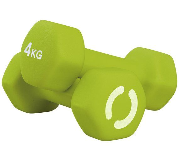 Buy Opti Neoprene Dumbbells - 2 x 4kg at Argos.co.uk, visit Argos.co.uk to shop online for Weights and dumbbells, Weights, multi-gyms and strength training, Fitness equipment, Sports and leisure