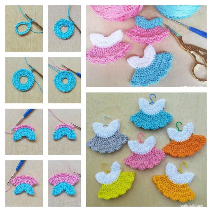 Crochet Mini Baby Shower Favors with Free Patterns