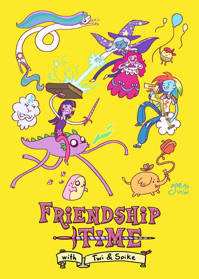 Friendship Time! - Imgur. MLP: FIM and Adventure Time crossover