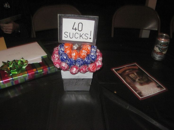 I made these centerpieces for my husbands 40th birthday party  So fun 16 best 40th birthday images on Pinterest   Birthday party ideas  . Diy Centerpieces For 40th Birthday Party. Home Design Ideas