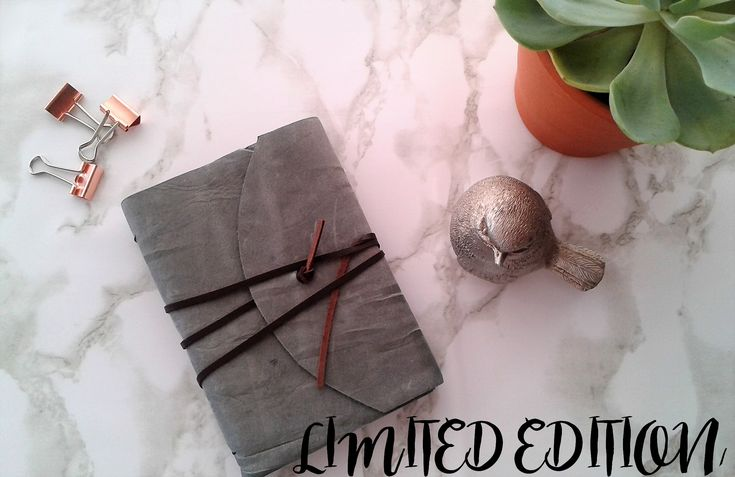 LIMITED EDITION MID GREY LEATHER JOURNAL
