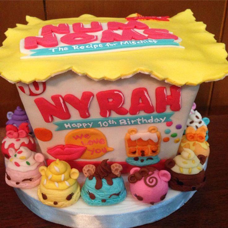 Nom Nom Birthday Cake Ideas