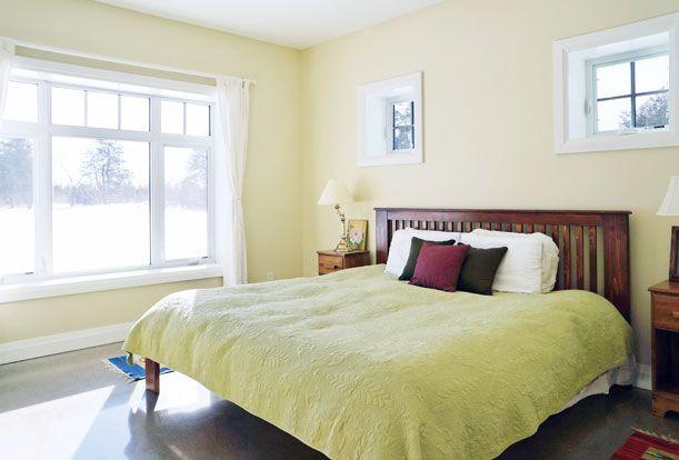 Master Bedroom.  Passive Solar Design | Sustainable Building | Solares Architecture