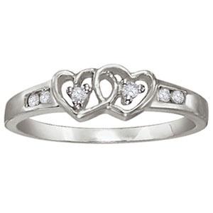 heart ring - Purple Diamond Wedding Ring