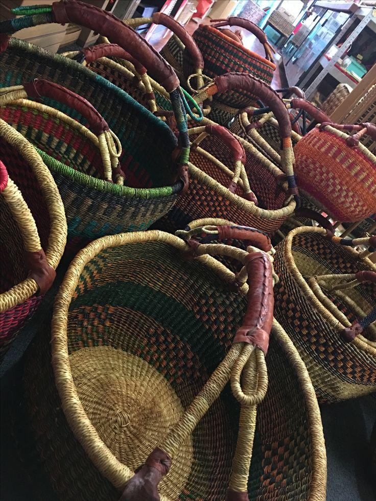 Fair-trade baskets.