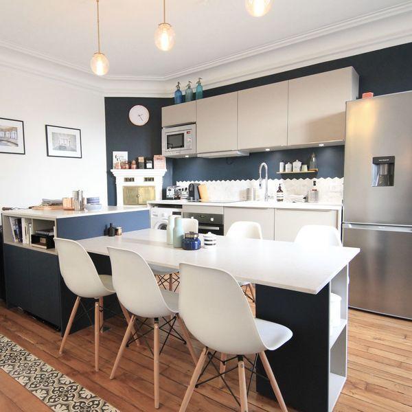 Ilot Central Table Bar Le Plein D Idees Pour La Cuisine In 2020