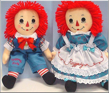 raggedy ann & andy-  I had a bedroom designed around them at some point!