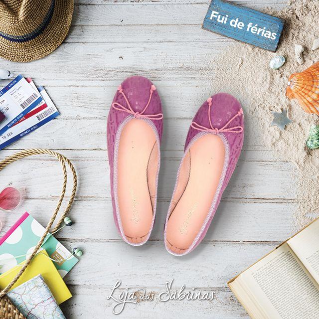 Se está a um passo de entrar de férias, não se esqueça de colocar na mala as Sabrinas Ametista, elas são complemento ideal para os seus looks de Verão. http://www.lojadassabrinas.com/product/ametista