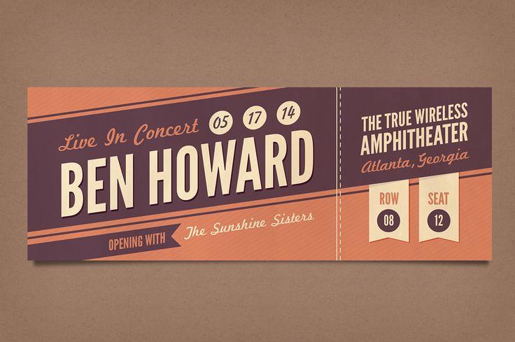 Home Appliances And Beyond Creative Pinterest – Concert Ticket Design