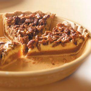 Caramel Pecan Cheesecake Pie - hubby's birthday request