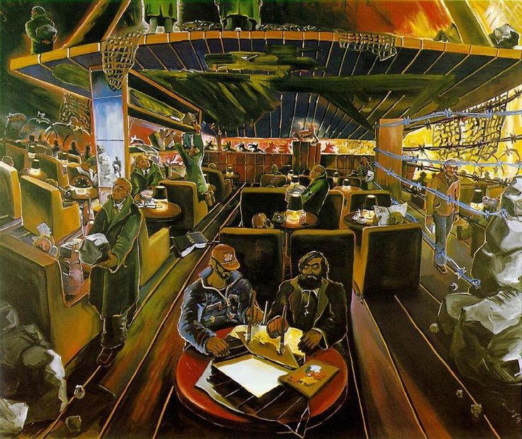 Jorg Immendorff (German, 1945-2007), Cafe Deutschland IV