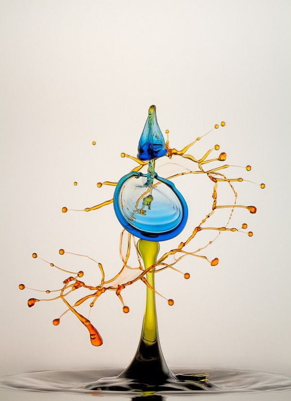 High Speed Liquid and Bubble Photograph by Heinz Maier