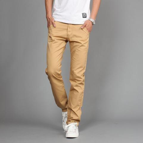 Men Khaki Joggers Pants!  #khakijoggers #CasualKhakiPants #KhakiPants #MenPants #SolidTrain #menworkdress
