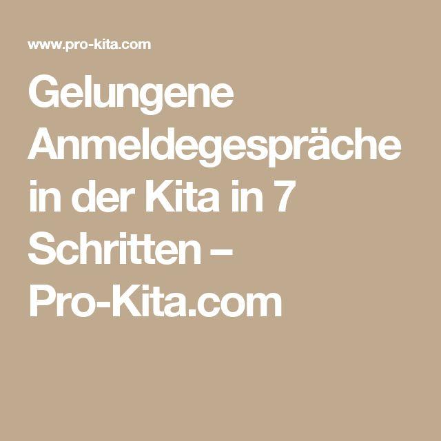 Gelungene Anmeldegespräche in der Kita in 7 Schritten – Pro-Kita.com
