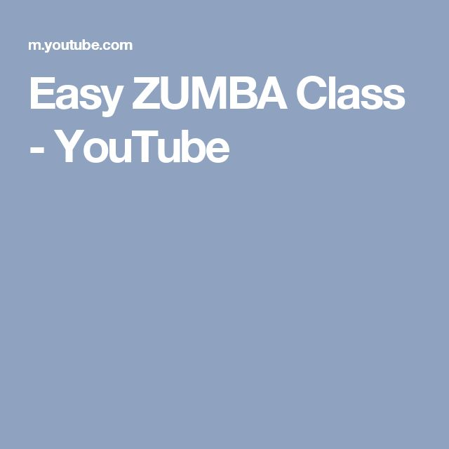 Easy ZUMBA Class - YouTube