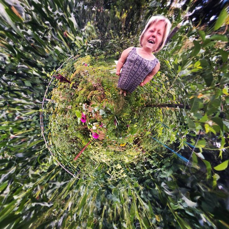 The enchanted garden 😊 Photo: Diana Topan  #enchantedgarden #tinyplanet #fisheye