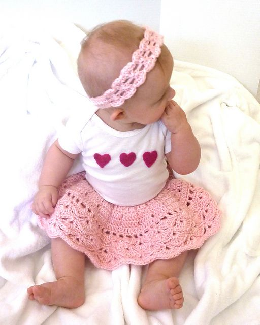 Ravelry: Sophie Skirt and Headband pattern by Erin Fuller - free crochet pattern