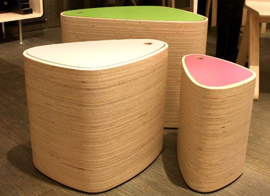 milan furniture fair 2009, zona tortona, sustainable wood furniture, recycled furniture, contemporary furniture, kerto, wood conservation, resource conservation furniture, eco friendly storage units, eco friendly chairs, recycled materials furniture, restored furniture, laminated veneer lumber