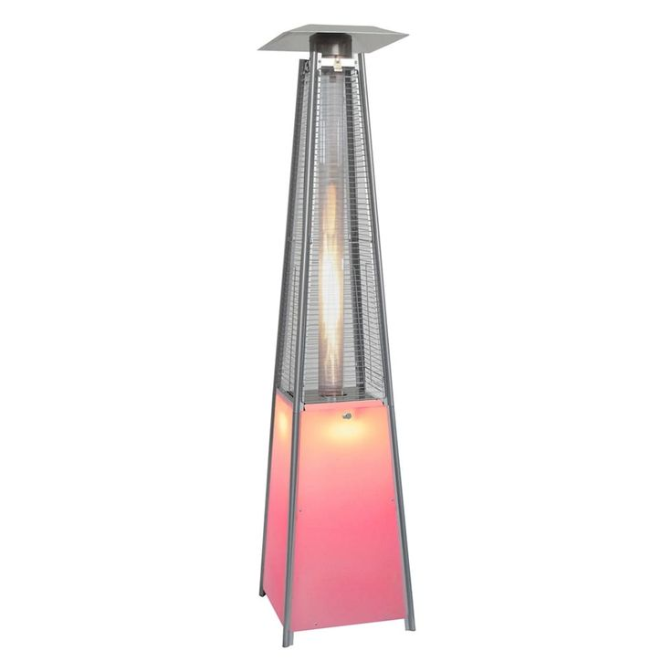 Shop Hanover Outdoor Furniture  HAN110SS 42,000 BTU Square Propane Patio Heater with Multi-Color LED Lighted Base at The Mine. Browse our patio heaters, all with free shipping and best price guaranteed.