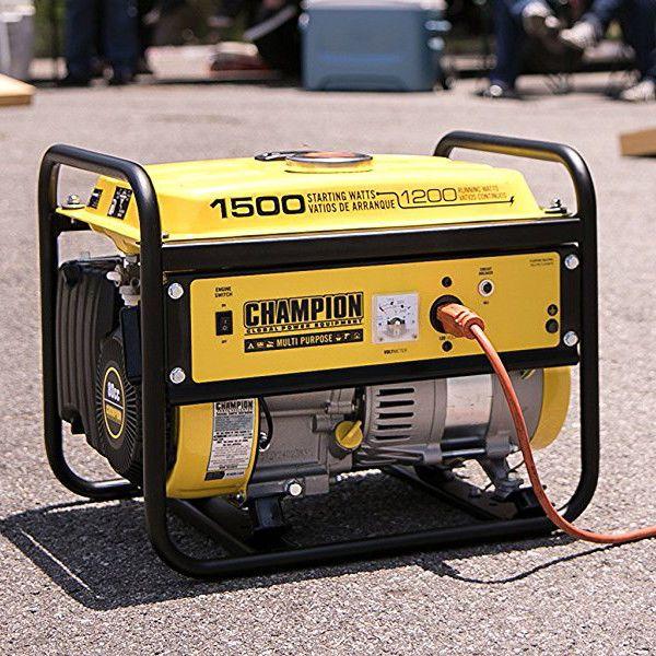 Portable Power Generator 1500W Gas Powered Outdoor Emergency Energy Source Cover #ChampionPowerEquipment
