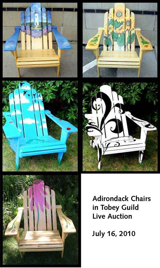Tobey Adirondack Chairs Live Auction