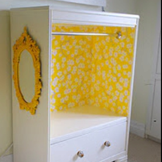 Waiting to find an old dresser and then making this! Awesome for kids costumes and seems super easy