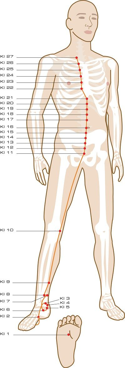 R Kidney Acupuncture Points