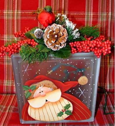 188 best crafts glass blocks images on pinterest glass for Santa glasses for crafts