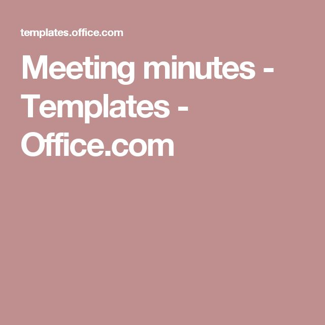 Meeting Minutes  Templates  OfficeCom  Document Samples
