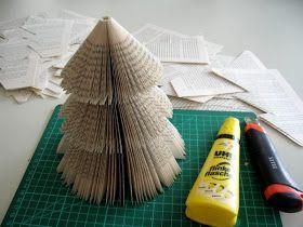 Fliegenpilzle: Tannenbaum aus alten Büchern!