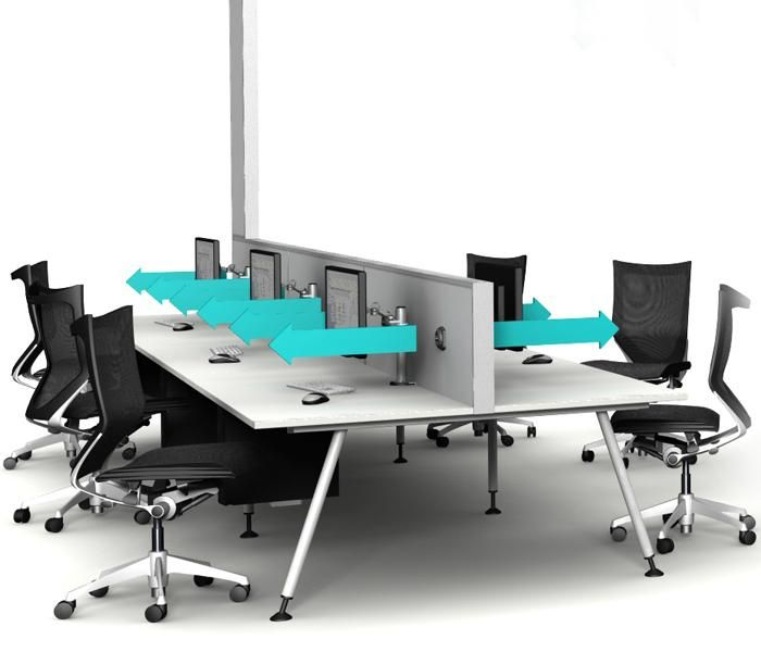 TaskAir | UCI screen system, designed to deliver air to the individual at their workstation. Australian designed and manufactured. GECA Certified. Australian International Design Mark. Innovation Award, Neocon. uci.com.au