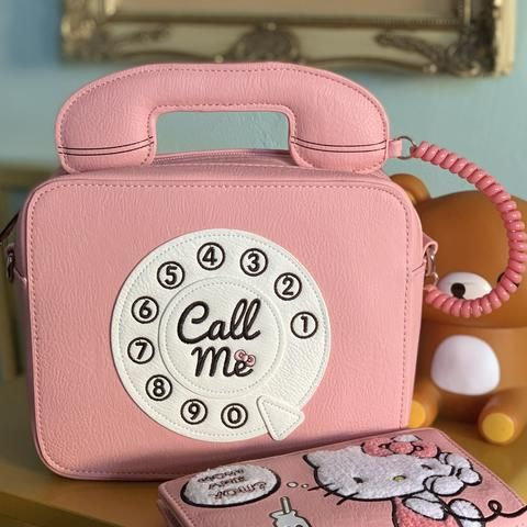 397f082e2 Hello Kitty Call me! Crossbody x Loungefly Kawaii Bags, Pink Hello Kitty,  Purse