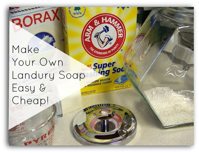 This is super-easy to make. This laundry soap recipe uses Ivory bar soap, borax, and washing soda. Your laundry will cost only 5¢ a load.