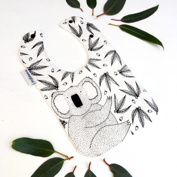 Made with 100% cotton and backed with a bamboo terry toweling, I love the hand screen printed bibs from Victorian based Joey Jelly Bean. These bibs use water based inks, are fastened with an industrial strength resin snap clip and come in lots of cute designs. This koala is one of my favourites!