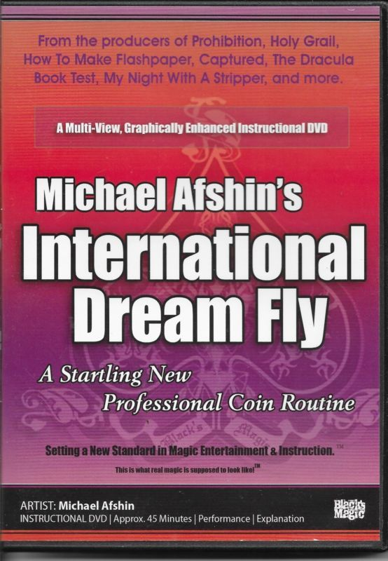 INTERNATIONAL DREAM FLY BY MICHAEL AFSHIN'S BLACK MAGIC DVD COINS TRICKS Please check out all our rare value priced Magic tricks & Books at: http://stores.ebay.com/webrummage