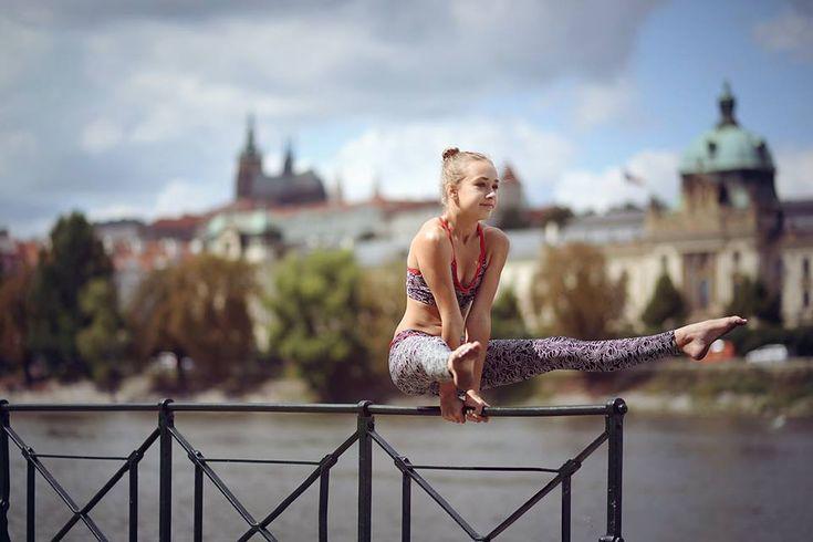 Amazing Isabelle... Prague... #siluetyogawear #madewithloveforyou