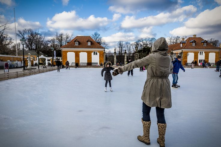 Frederiksberg skating rink, Copenhagen this morning!  Ice princesses and princes in perfect harmony and at all levels. A biting cold and strong winds across the rink!